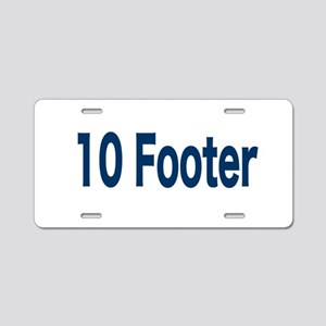 10 Footer Aluminum License Plate