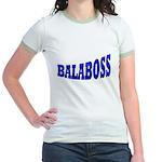 Yiddish BALABOSS Jr. Ringer T-Shirt