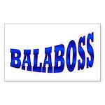 Yiddish BALABOSS Rectangle Sticker