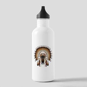 Native War Bonnet 01 Stainless Water Bottle 1.0L