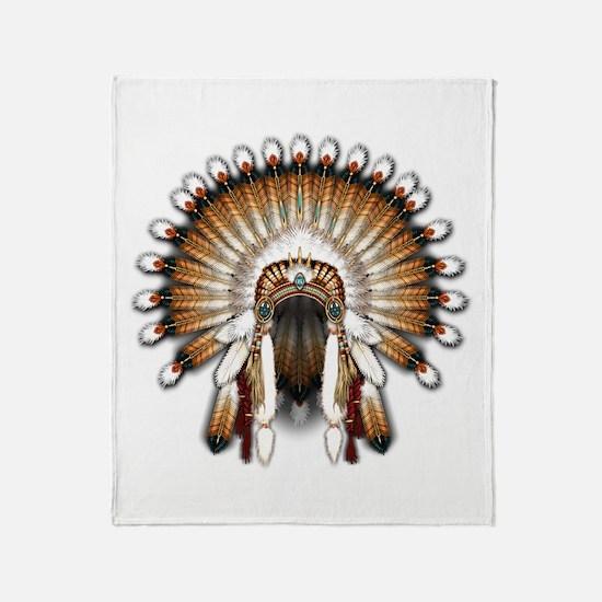 Native War Bonnet 01 Throw Blanket