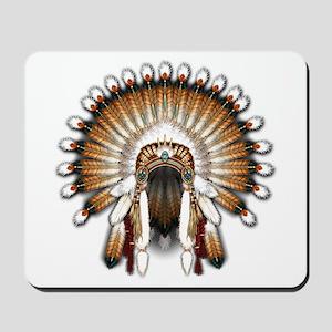 Native War Bonnet 01 Mousepad