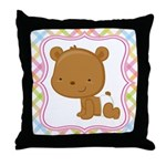 Baby Bear Pastel Throw Pillow