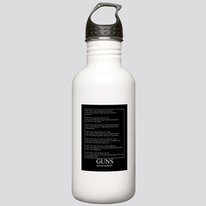 Guns... Any More Questions? Stainless Water Bottle