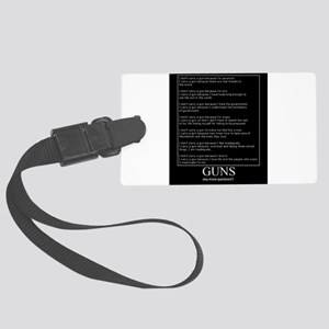 Guns... Any More Questions? Large Luggage Tag