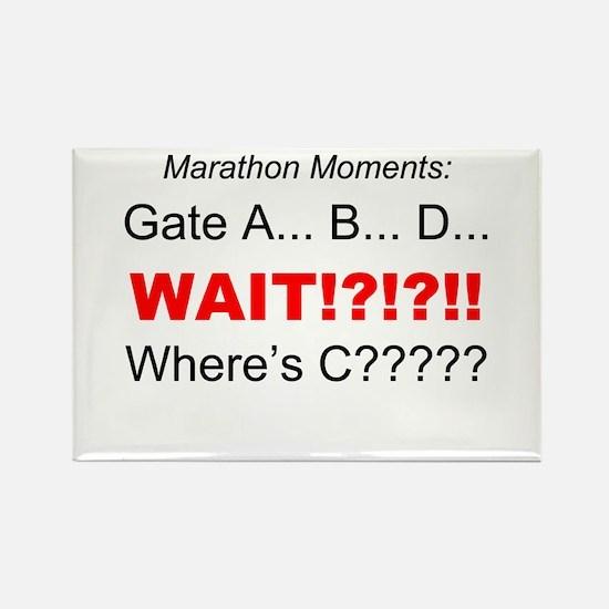 Marathon Moments - Wheres C? Rectangle Magnet