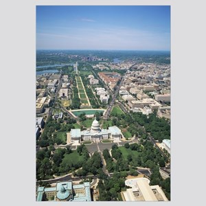 Aerial view of buildings in a city, Washington DC