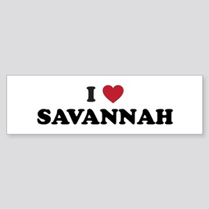I Love Savannah Georgia Sticker (Bumper)