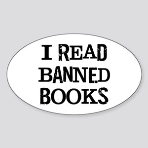 I Banned Books Sticker (Oval)