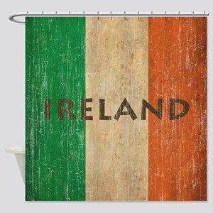Vintage Ireland Shower Curtain