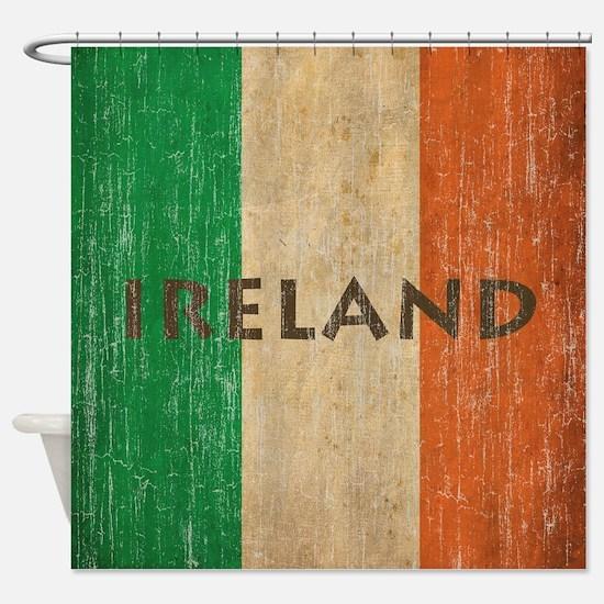 Vintage Ireland Shower Curtain