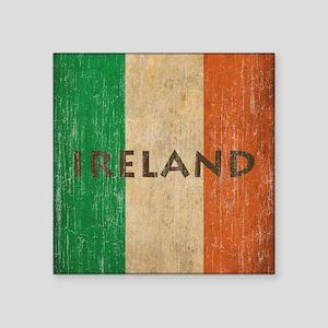 """Vintage Ireland Square Sticker 3"""" x 3"""""""