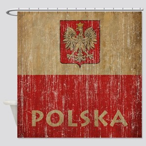 Vintage Polska Shower Curtain