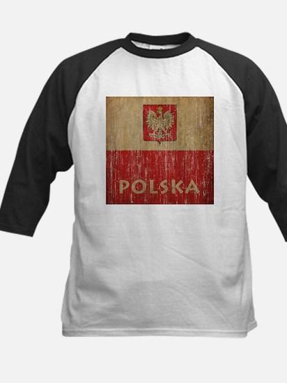 Vintage Polska Kids Baseball Jersey