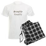 Simplify Simplify Men's Light Pajamas