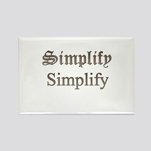 Simplify Simplify Rectangle Magnet