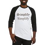 Simplify Simplify Baseball Jersey