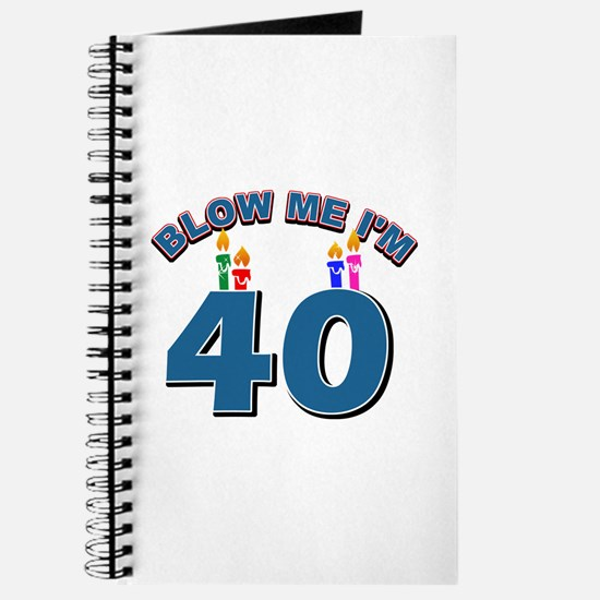 Blow Me I'm 40 Journal