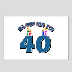 Blow Me I'm 40 Postcards (Package of 8)