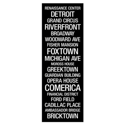Bus Roll: Detroit Poster