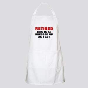 Retired Dressed Up Apron