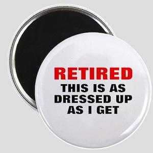 Retired Dressed Up Magnet