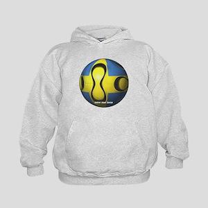 Sweden Soccer Kids Hoodie