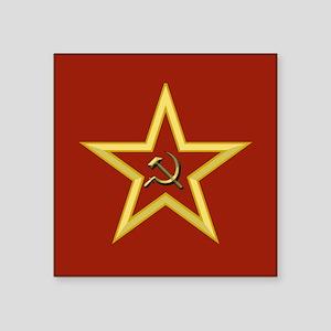 "Soviet Star Square Sticker 3"" x 3"""