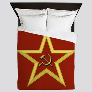 Soviet Star Queen Duvet
