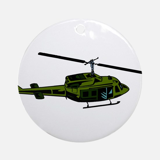 Helicopter4 Ornament (Round)