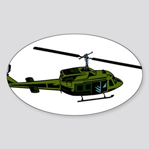 Helicopter4 Oval Sticker