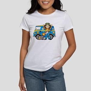 Hippie Boy and Camper Van Women's T-Shirt