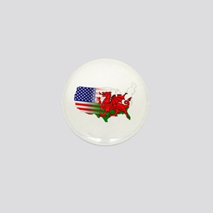 American Welsh Map Mini Button