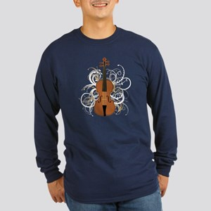Violin Long Sleeve Dark T-Shirt