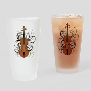 Violin Drinking Glass
