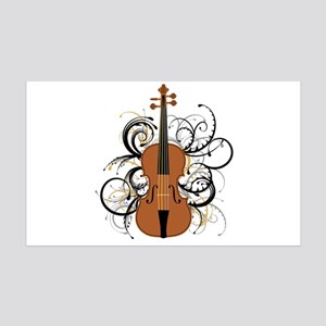 Violin 35x21 Wall Decal