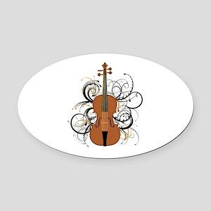 Violin Oval Car Magnet