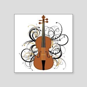 """Violin Square Sticker 3"""" x 3"""""""