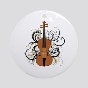 Violin Ornament (Round)