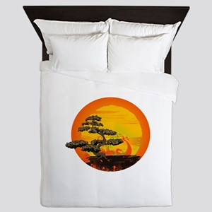 Sunset Bonsai Queen Duvet