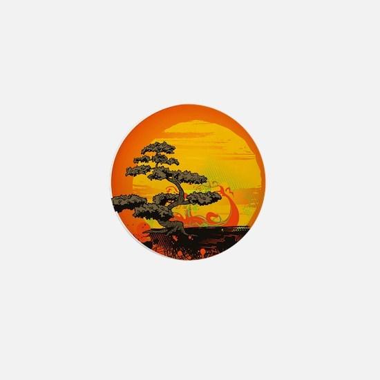 Sunset Bonsai Mini Button