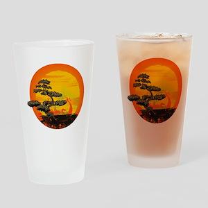 Sunset Bonsai Drinking Glass