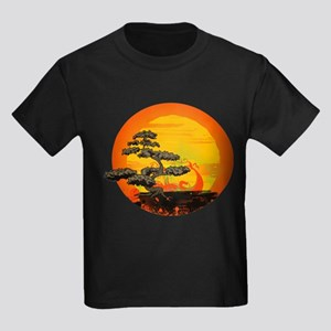 Sunset Bonsai Kids Dark T-Shirt