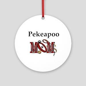 Pekeapoo Mom Ornament (Round)