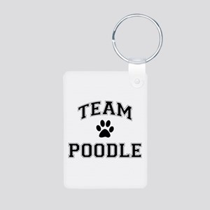 Team Poodle Aluminum Photo Keychain