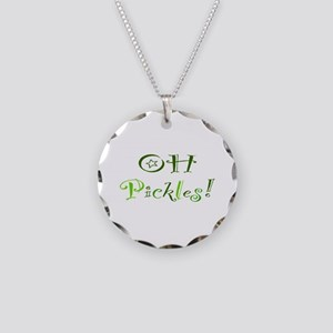 Oh Pickles Necklace Circle Charm