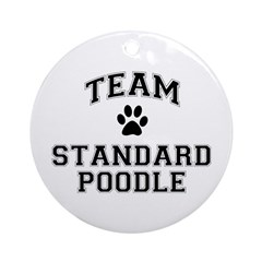 Team Standard Poodle Ornament (Round)