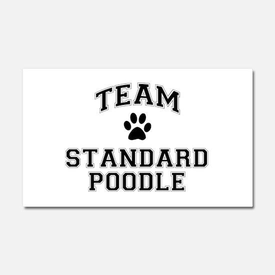 Team Standard Poodle Car Magnet 20 x 12