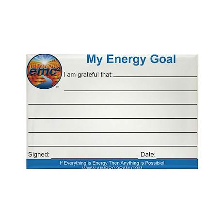 Energy Goal Card Magnet