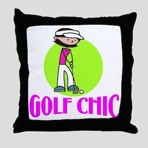 Golf Chic Throw Pillow